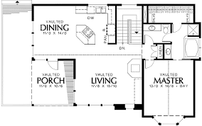 Craftsman Style with L-shaped Kitchen - 69293AM floor plan - Main Level
