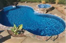 fiberglass pool with hot tub Google Search jacuzzi Pinterest