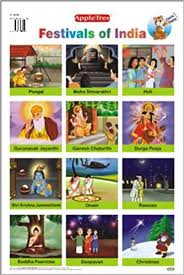 Photo Chart Of Indian Festivals Amazon In Buy Educational Charts Festivals Of India Book
