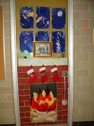 office door decorations for christmas. Fireplace Door Decoration Christmas Decorations Hot Chocolate Factory On Office For