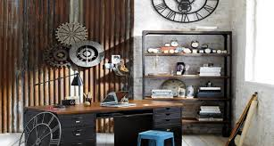 industrial office decor. Wonderful Industrial Ideas Design Industrial Interior Home Office With Decor S