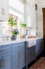 image cool kitchen. Exellent Image Pretty Powder Blue  28 Cool Kitchen Cabinet Colors Photos Intended Image