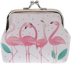 Profusion <b>Circle Flamingo</b> Faux Leather Coin Purse Pouch: Amazon ...