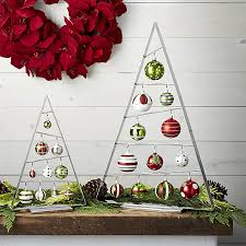modern a frame ornament tree is angled just so to display contemporary christmas skirt crate and barrel christmas tree skirt95