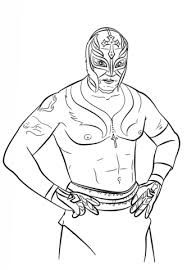Rey Mysterio Coloring Page Free Printable Coloring Pages