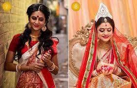 beautiful indian bridal makeup looks modern bengali bridal looks pinit