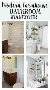 Modern farmhouse bathroom remodel ideas Decorating Ideas Modern Farmhouse Bathroom Makeover Blesser House So Many Great Ideas To Create Blesser House Modern Farmhouse Bathroom Makeover Reveal