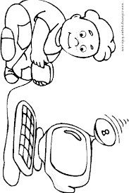 Computer Coloring Pages Coloring Pages For Kids Family People