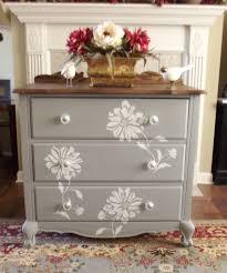 homemade furniture ideas. Flower Stencil With Homemade Chalk Paint. Dresser IdeasDresser Makeovers Furniture Ideas