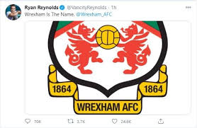 Download wrexham afc vector de logotipo no formato svg. Hollywood Megastar Ryan Reynolds Gives Surprise Gift Of Gin To Newly Purchased Wrexham Afc Pub Craft Gin Club The Uk S No 1 Gin Club