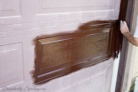 painted wood garage door. Brilliant Door Painting On The Gel Stain To Our Faded Garage Door On Painted Wood Garage Door K
