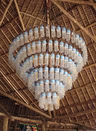 water bottle chandelier
