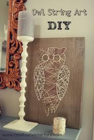 Diy String Art Owl String Art Diy Nest Home Interiors