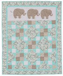 Pachyderm Pals baby quilt from the book Animal Parade 2 | Baby ... & Pachyderm Pals baby quilt from the book Animal Parade 2 Adamdwight.com