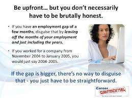 Sample Resume Explaining Gaps In Employment
