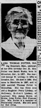 Sarah Lindsay Potter - Newspapers.com