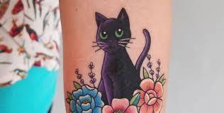 тату кошка значение фото эскизы и примеры для девушек и женщин