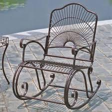 rocker chairs wrought iron patio
