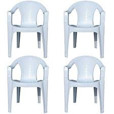 plastic lawn chairs. Brilliant Plastic Indoor U0026 Outdoor White Plastic Lawn Chairs Garden Patio Armchair Stacking  Stackable  Intended A