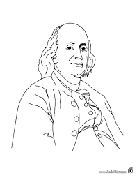 Small Picture Benjamin Franklin coloring page Founding Fathers Pinterest