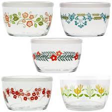 vintage glass bowl set of 5
