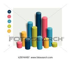 3d Colummn Chart Graph Simply Color Editable Infographics