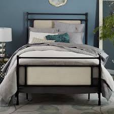 metal upholstered bed. Brilliant Metal Rhodes Upholstered Metal Bed In West Elm