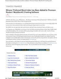 Metastock Charting Software Yahoo Finance Winans Investments