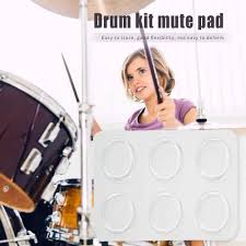 <b>6pcs</b>/<b>set</b> Snare Drum Mute Damper Pad Muffler <b>Silica Gel</b> Effective ...