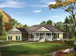 farm pond country ranch home house plan