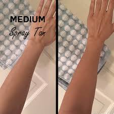Fake Tan Colour Chart Spray Tans Glasgow Natural Organic Tanning Salon