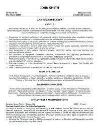 Clinical Laboratory Technician Resume Format Do 5 Things