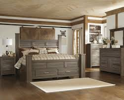 our new king sized bed and night stands juararo poster storage pertaining to gray wood bedroom furniture ideas 12