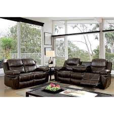 reclining sofa chair. Ellister Transitional 2-Piece Brown Bonded Leather Match Reclining Sofa Set Reclining Sofa Chair