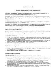 Letter Of Understanding Template Word Memorandum Of Understanding 6 Free Templates In Pdf Word