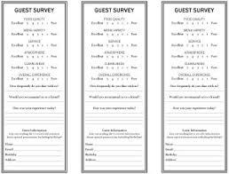 Comment Cards Survey Card Template Rome Fontanacountryinn Com