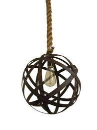 metal orb pendant light hanging sphere