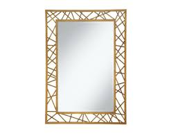 Geometric Gold Wall Mirror | Las Vegas Furniture Store | Modern Throughout  Gold Wall Mirrors (