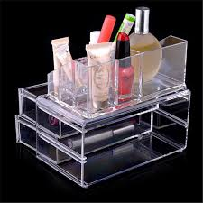 kim kardashian makeup clear acrylic cosmetic organizer with two drawers make up jewelry case storage insert with kim kardashian makeup storage