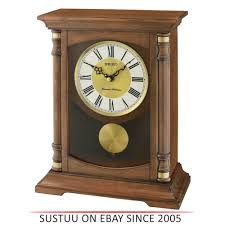 details about seiko qxq034b table desk anniversary standing wooden clock pendulum dual chime