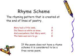 Rhyming Patterns