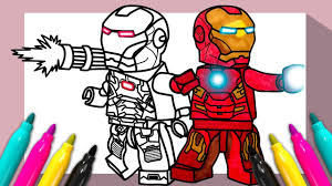 Learn to be creative in your own way. Lego Iron Man War Machine Coloring Page Coloring For Kids Youtube