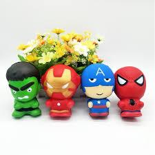 DHL <b>96pcs Cute</b> Squishy toys Slow Rising The Avengers Iron Man ...