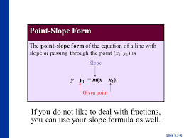 6 point slope form