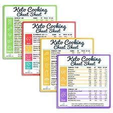Keto Cheat Sheet Magnets For Cooking Set Of 4 Keto Magnet Great Fridge Magnet Reference Keto Foods List Guide For Keto Diet Weight Loss Keto