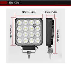 Us 8 88 28 Off 12v Spot Led Work Light Bar 48w 4inch Offroad Car Headlight For Truck Tractor Boat Trailer 4x4 Suv Atv Led Driving Light Lamp In