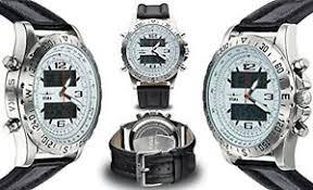 new stuka men 039 s aviator watch analog digital watch stainless image is loading new stuka men 039 s aviator watch analog