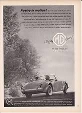 mga 1600 original print ad 1960 mga 1600 poetry in motion the british motor corporation