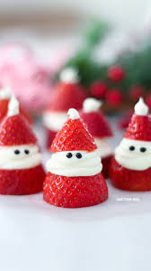 For Christmas 3 Ingredient Strawberry Santas For Christmas Adorable Christmas