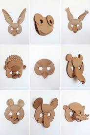 3d cardboard animal masks template